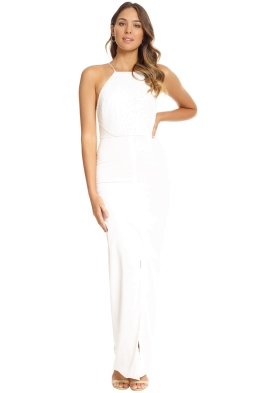 Unspoken - Swann Long Dress - Ivory - Front