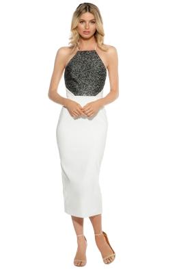 Unspoken - Swann Midi Dress - Ivory - Front