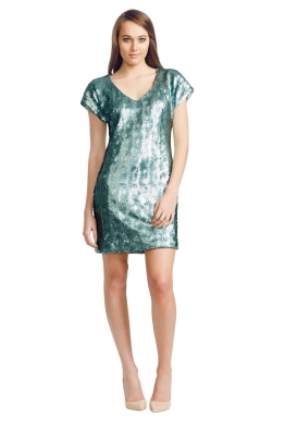 Wayne Cooper - Mermaid Shift Dress - Front - Green