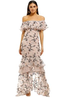 We-Are-Kindred-Charlotte-Off-Shoulder-Dress-Rosebud-Front