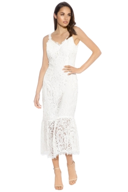 We Are Kindred - Charlotte Backless Dress - Ivory - Front