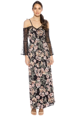 We Are Kindred - Jojo Lace Insert Dress - Front - Floral Black