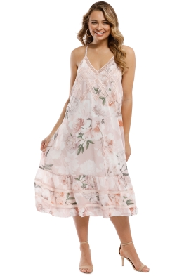 We Are Kindred - Magnolia Midi Dress - Blush Tigerlily - Front