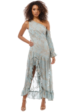 We Are Kindred - Maxime One Shoulder Maxi Dress - Blue - Front
