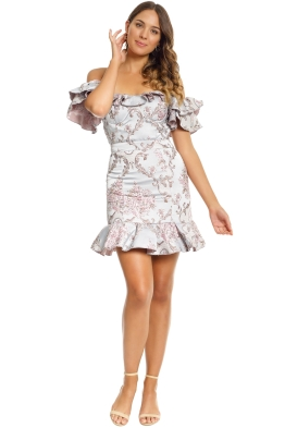 We Are Kindred - Mollie Off Shoulder Dress - Brocade - Front