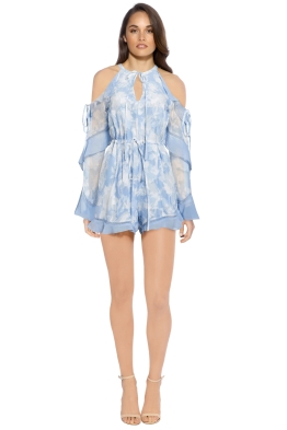We Are Kindred - Morning Frost Romper - Baby Blue - Front
