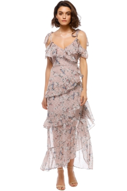 We Are Kindred - Pippa Ruffle Maxi Dress - Pastel Pink - Front