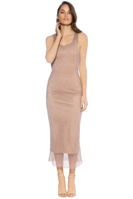 We Are Kindred - Steel Magnolia Singlet Dress - Front - Rose Gold