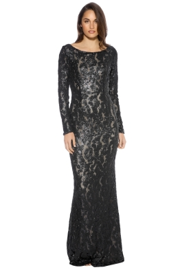 When Freddie Met Lilly - Rebecca Gown - Black - Front