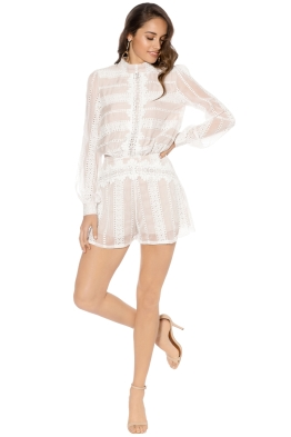 Winona - Alhambra Playsuit - White - Front
