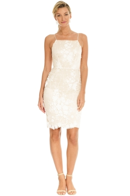 Winona - Gala 3_4 Dress - White - Front