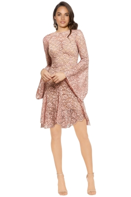 Yeojin Bae - Cord Lace Mannon Dress - Pink - Front