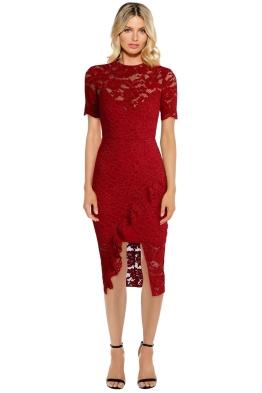 Yeojin Bae - Cornelli Lace Alyssa Dress - Red - Front