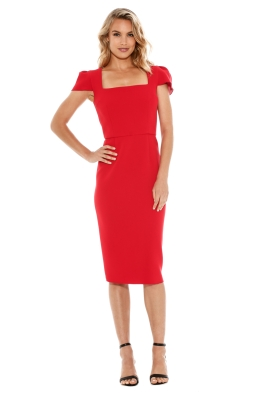 Yeojin Bae - Double Crepe Aimee Dress - Red - Front