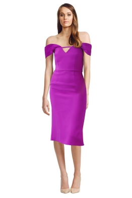 Yeojin Bae - Double Crepe Corrine Dress - Fuchsia - Front