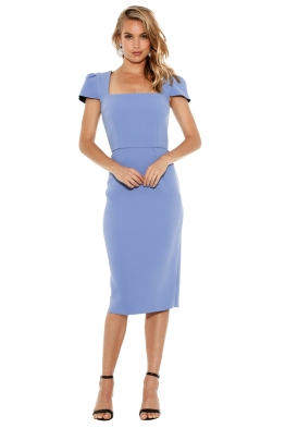 Yeojin Bae - Double Crepe Aimee Dress - Sky Blue - Front