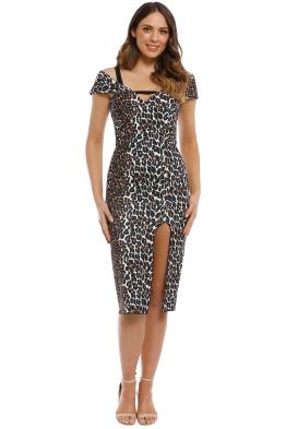 Yeojin Bae - Double Crepe Leopard Minka Dress - Print - Front