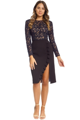 Yeojin Bae - Embroidered Tulle Arabella Dress - Front - Black