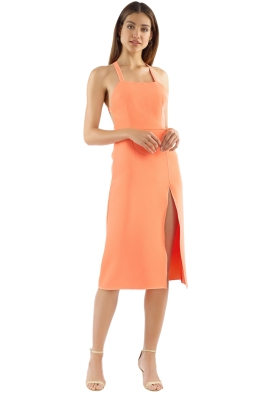 Yeojin Bae - Lilian Dress - Neon Orange - Front