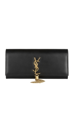 Yves Saint Laurent - Classic Monogram Tassel Clutch Black