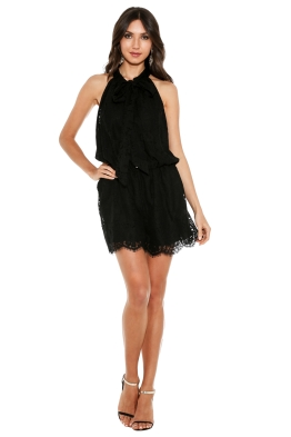 Zimmermann - Arcadia Lace Playsuit - Front - Black