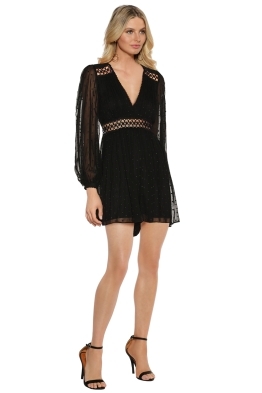 Zimmermann - Bowerbird Empire Playsuit - Black - Side