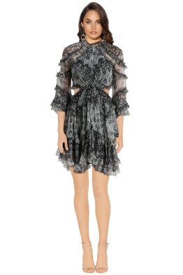Zimmermann - Divinity Ruffle Dress - Grey - Front