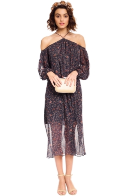 Zimmermann - Havoc Suspend Dress - Black Floral - Front