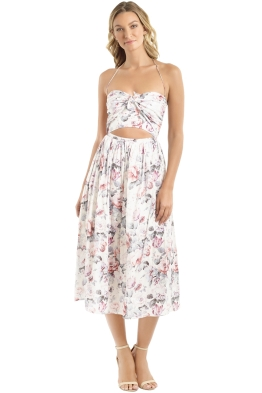 Zimmermann - Jasper Halterneck Dress - Cream Floral - Front