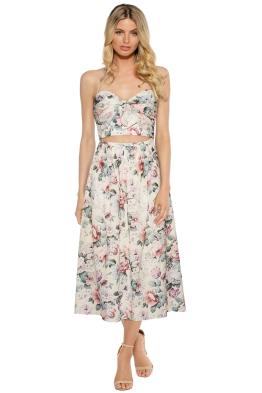 Zimmermann - Jasper Halterneck Dress - Floral Print - Front