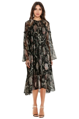 Zimmermann - Lavish Braid Dress - Black - Front