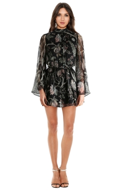 Zimmermann - Lavish Flare Sleeve Playsuit - Indienne Floral - Front