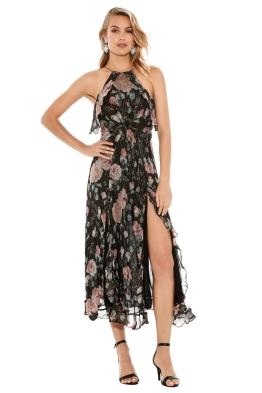 Zimmermann - Master Flute Floral Dress - Black - Front