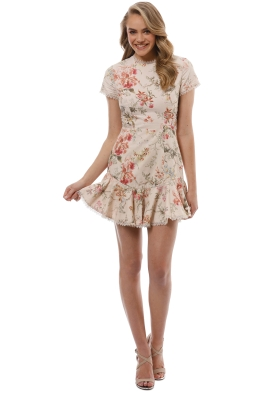 Zimmermann - Mercer Flutter Dress - Cream Floral - Front
