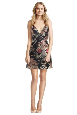 Zimmermann - Mischeif Wallpaper Dress - Black Floral - Front