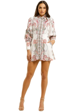 Zimmermann - Ninety-Six Shirt Dress - White Print - Front