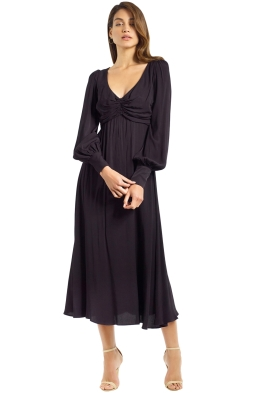 Zimmermann - Rouche Dress - Black - Front