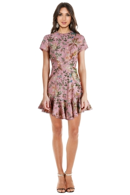 Zimmermann - Tropicale Lattice Dress - Pink Floral - Front