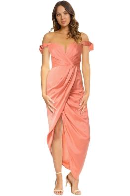 Zimmermann - Winsome Drape Cocktail Dress - Guava - Front