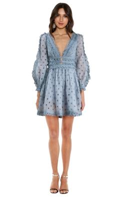 Zimmermann - Sky Winsome Tea Dress - Front