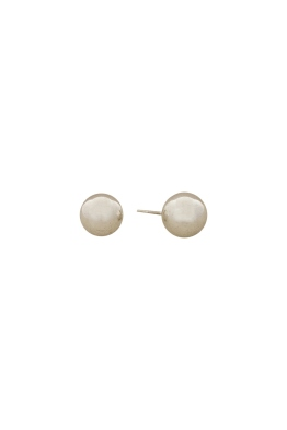 Adorne - 10mm Metal Ball Stud Earring - Front