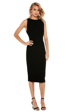 Yeojin Bae - Double Crepe Sophie Dress - Black - Front