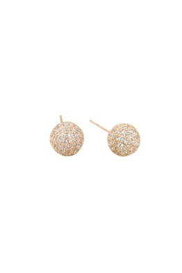 Adorne - Diamante Covered Ball Stud Earring