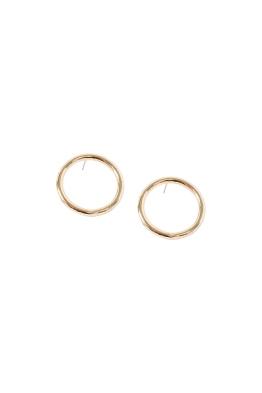 Adorne - Medium Front Hoop Stud Earring - Gold