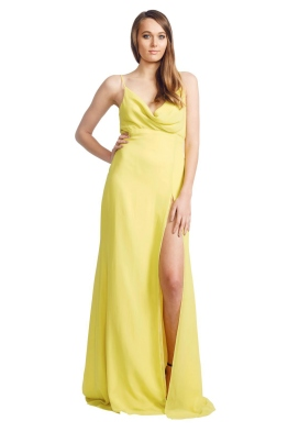 Ae'lkemi - Cowl Front Gown - Front - Yellow
