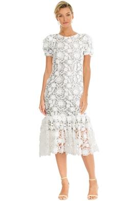 Alcoolique - Milva Short Sleeve Midi Dress - White - Front
