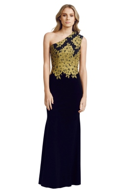 Alex Perry - Darcelle Gown - Front - Black