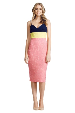 Alex Perry - Linda Dress - Front - Pink