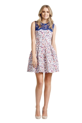 Alex Perry - Amalfi Dress - Blue Print - Front