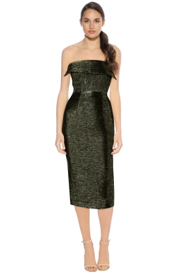 Alex Perry - Colton Dress - Green - Front